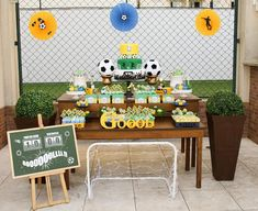 Mãe Sem Frescura - Dicas para Festa de Aniversário 6 Anos - Tema: Futebol do…