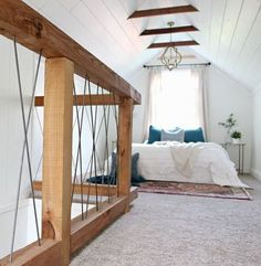 I love the innovation of a cozy loft space. Take a look at our favorite attic lofts for inspiration on your next renovation! Attic Bedroom Designs, Attic Bedrooms, Bedroom Loft, Cozy Bedroom, Bedroom Ideas, Bedroom Decor, Extra Bedroom, Trendy Bedroom, Design Bedroom
