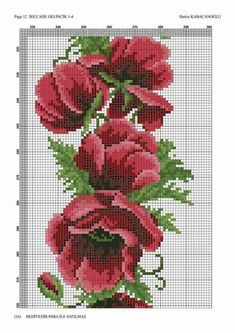 Crewel Embroidery, Beaded Embroidery, Cross Stitch Embroidery, Cross Stitch Patterns, Cross Stitch Rose, Cross Stitch Flowers, Bunch Of Flowers, Cross Stitching, Diy And Crafts