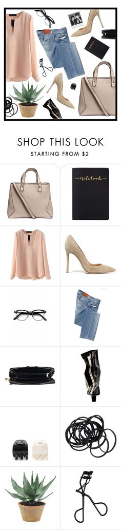 """""""Untitled #273"""" by elvita22 ❤ liked on Polyvore featuring H&M, Gianvito Rossi, Retrò, Salsa, Polaroid, Aesop, Forever 21 and NDI"""