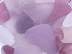 sea glass in a range of violets