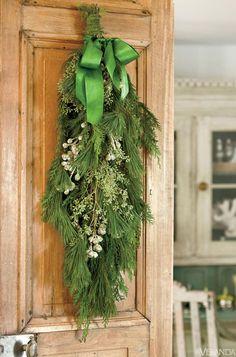 Decking the Halls! - Design Chic - beautiful wreath on the door