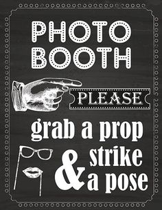 DIGITAL Chalkboard Photo Booth sign props NO PHYSICAL ITEM | Home & Garden, Greeting Cards & Party Supply, Party Supplies | eBay!