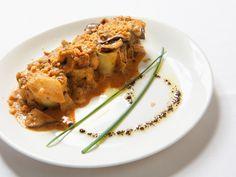 Restaurante Chef Emilio:  Cenelones de rabo de buey con pasta fresca gratinados con salsa de boletus edulis.