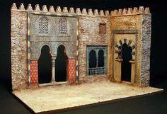 """Arabian nights"" Esc by Erik Trauner Vitrine Miniature, Miniature Houses, Arabian Nights, Medieval Fantasy, Miniture Things, Architecture Details, Installation Art, Scenery, Dark Night"