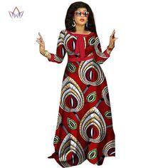 african dashiki o-neck long dress - Dukaiko Fashion African Dresses For Women, African Print Dresses, African Attire, African Fashion Dresses, Fashion Outfits, African Outfits, African Prints, Fashion 101, Fashion Styles