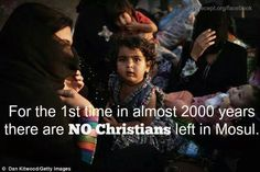 pinner:Thanks to policies of Obama regime in America & ISIS Muslims terrorists murders--there are no Christians in Mosul for the first time 2000 years. Elections Matter people-- Wake-up or we're next! Christian Leave, Persecuted Church, Sharia Law, Conservative Politics, Persecution, God Bless America, Before Us, Current Events, The Life