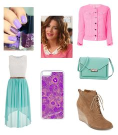 """""""Martina's Stoessel OUTFIT"""" by aliciarif ❤ liked on Polyvore featuring maurices, Christopher Kane, Lucky Brand, Disney, CellPowerCases, French Connection and MartinaStoessel"""