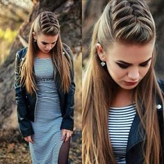Beautiful hairstyles for girls and adults! De … - Best New Hair Styles Unique Hairstyles, Pretty Hairstyles, Girl Hairstyles, Braided Hairstyles, Wedding Hairstyles, Hairdos, Cute Cheer Hairstyles, Updo Hairstyle, Braided Updo