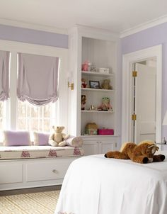 A little magic is perfect for a little girl's room. Benjamin Moore Magic Potion 1250.