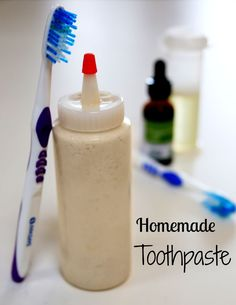 How to Make Toothpaste. I like the squeeze bottle.