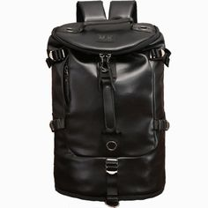 c6aca3978d91 Buy Men s Fashion Personalized Pu Leather Multi-purpose Waterproof Backpack  Bag (Black