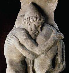 Ulisse abbraccia Laerte, rilievo, metà del II sec. d.C., Roma, Museo Barracco