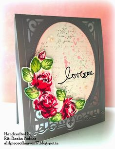 """Romantic Card made using """"Vintage Roses"""" Stamp set by Alt &New !"""
