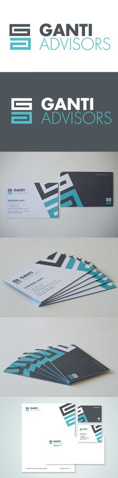 Ganti Advisors Corporate Identity by Marstudio © www.marstudio.com - Financial Logo - Corporate Collateral - Print Collateral