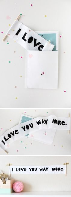 Valentine's Day letter scroll DIY