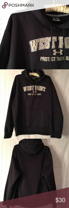 "Under Armour West Point hoodie Under Armour West Point hoodie. Great used condition. No notable flaws. Size L. Armpit to armpit 25"". Shoulder to bottom hem 26"". Under Armour Shirts Sweatshirts & Hoodies"