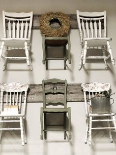 Simple and Salvaged Home Decor. The Little Burlap Barn. Old Barn Wood, Chalk Paint Furniture, Farmhouse Style Decorating, Vintage Items, Burlap, Display, Chair, Wall, Shop