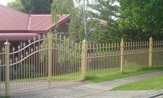 Zaun und Sichtschutz aus rostigem Stahl | fences - Zäune ...