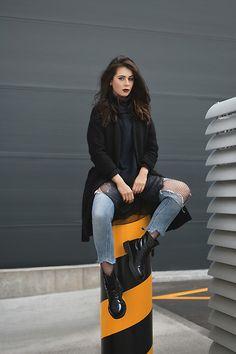 Get this look: http://lb.nu/look/8457223 More looks by Monika Ruzgute: http://lb.nu/monikaruzgute Items in this look: Zara Coat, Lindex Sweater, Zara Jeans, Dr. Martens Docs Shoes #edgy #grunge #street