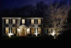 Lighting stone turret by indiana outdoor lighting brandon green led tree spotting lighting especially at christmas time by green outdoor lighting aloadofball Image collections