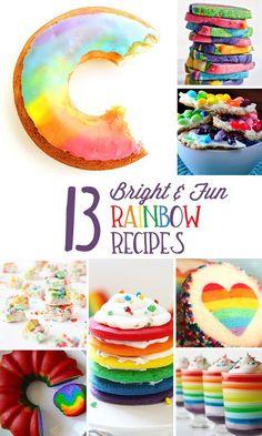 13 Fun and Bright Rainbow Recipes!