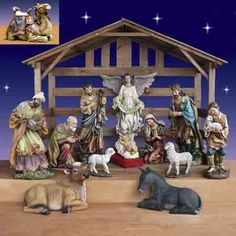 Christmas Nativity with Stable $2,999.00  Large Outdoor Christmas Nativity scene from Joseph's Studio with white pine Stable. The Camel is new for 2012. http://www.christmasnightinc.com/Christmas-Nativity-from-Josephs-Studio-40-scale-13-Pc-with-Stable-p1088.html#
