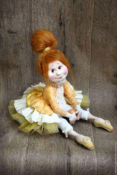 Купить Дария - желтый, балерина, коллекционная кукла, кукла, интерьерная кукла, в детскую, в интерьер