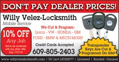 Willy Velez-Locksmith has it all! He works onsite, has amazing prices and even an extra OFF Coupon you can get right here! Any Job, Decoration, Coupon, Amazing, Design, Decor, Deko, Embellishments, Decorating