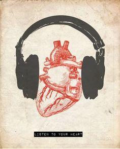 Listen to your heart.by Hunter Langston to Music Sanat Karavanı: Fotoğraf Reasons To Quit Smoking, Creation Art, Heart Art, Music Heart, Music Quotes, Singing Quotes, Music Lyrics, Listening To Music, Music Stuff