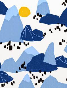 'Blue Mountain', Ophelia Pang, Julay 2014