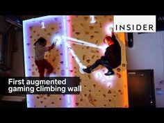 Un grupo de ingenieros de Finlandia ha desarrollado una plataforma de videojuegos en realidad aumentada que se proyectan sobre un rocódromo (pared de escalada) para jugar en vertical y escalando.