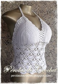 * Pérolas do Crochet: Max Cropped em crochet - top em croche