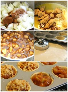 Karamell-Apfel-Mini-Torten - Pies and tarts - Apple Tartlets Recipe, Mini Apple Tarts, Mini Apple Turnovers, Caramel Apple Bites, Mini Caramel Apples, Apple Pie Muffins, Apple Pie Recipes, Mini Pies, How Sweet Eats