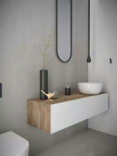 Bathroom wth concrete
