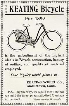 Old Design Shop ~ free digital image: Keating Bicycle advertisement