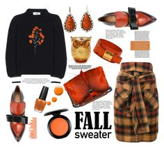 """""""Fall Sweaters"""" by felicia-mcdonnell ❤ liked on Polyvore featuring Fendi, Lipsy, Marni, Faith Connexion, Hermès, Antique, Sur La Table, OPI, MAC Cosmetics and Topshop"""
