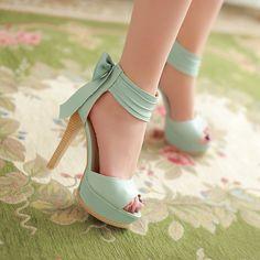 Fashion bowknot heels CX109BB