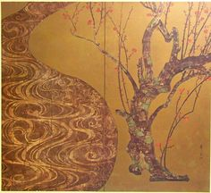 Red Prunus - Ogata Kōrin (1658-1716)