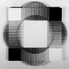 Francisco Sobrino - His work Black And White Wall Art, Black And White Abstract, Op Art, Deco Paint, Art Through The Ages, Door Gate Design, Deco Furniture, Sofa Furniture, Kinetic Art