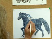 Video of how to draw horses with Jan Brett