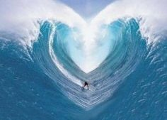 surfing two oceans waves curls form heart shape, heart shaped ocean waves, surfer s Awesome! No Wave, Heart Wave, Ocean Heart, Hand Heart, Heart In Nature, I Love Heart, Heart Pics, Photo Heart, Surfs Up