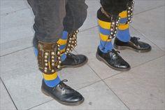 Bells on dancers' legs - Morris dancers, UK