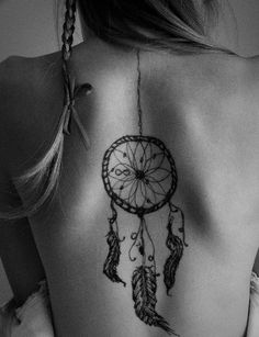 Im really into dream catchers and feathers right now (like everyone else) and love the placement of this...little big for me though