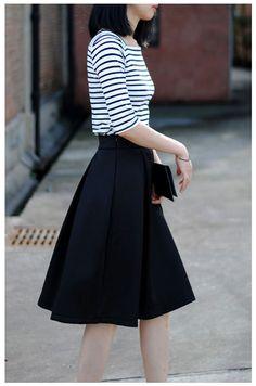 Waistline: Empire Pattern Type: Solid Style: Casual Material: Lanon Dresses Length: Mid-Calf Silhouette: A-Line size Waist Width(cm) Skirt length(cm) S 65-65 66 M 70-70 66 L 75-75 66 XL 80-80 66