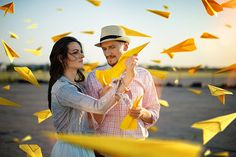Yellow airplanes on Behance
