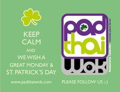 Buen lunes y felicidades a todos los Patricios y Patricias, hoy es #StPatrick'sDay