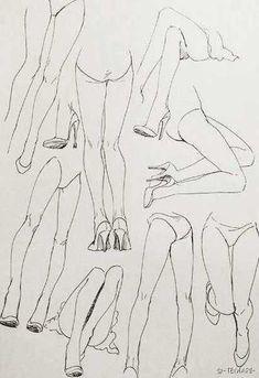 Legs with heels