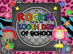 rockin out on the day of school- activities, printables & craftivities for a rock star day Teaching Activities, Teaching Kindergarten, Holiday Activities, Stars Classroom, Classroom Themes, 100 Days Of School, School Fun, School Ideas, First Grade Classroom