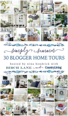 It is sweet, sweet summertime, and I'm so excited to have you here today for a summer tour of my home with the Simply Summer Home Tours! If you are stopping by for the first time, welcome! I hope you leave inspired and happy. I'd like to take a minute to thank Country Living Magazine, …